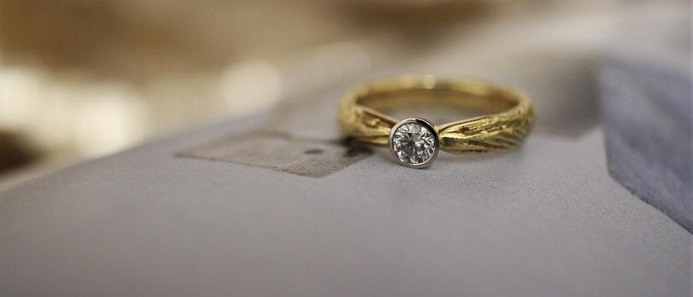 18ct Yellow Gold & Platinum Diamond