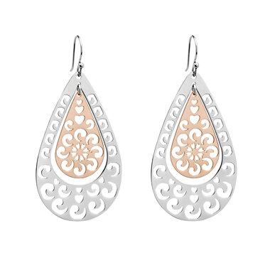 Two Tone Boho Earrings 3760S