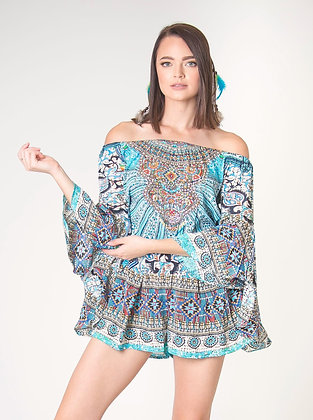 Sparkle Azul Playsuit