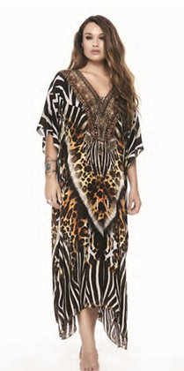 Tigress Long Kaftan with Slit Sleeve