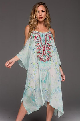 Summer Dream Cold Shoulder Short Kaftan