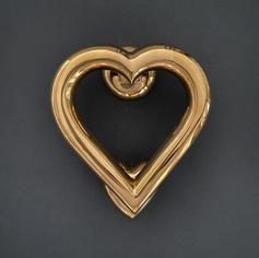 Love Heart - Brass Finish