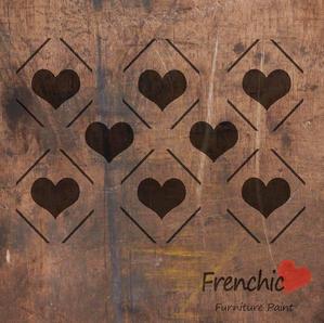 Diamond Hearts Stencil