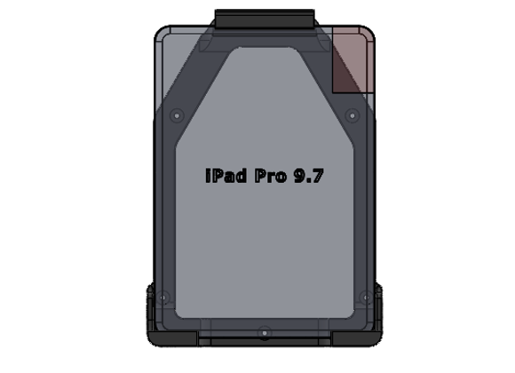 iPad Pro 9.7 Mount Vertical Orientation