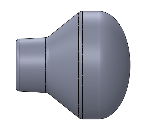 1.625 inch diameter Smooth Rounded Throttle Knob