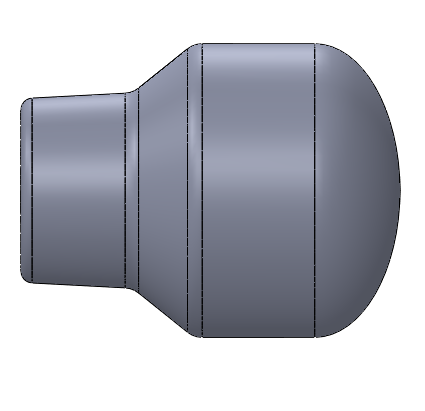 1.25 inch diameter Smooth Rounded Throttle Knob
