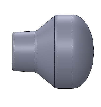 1.5 inch diameter Smooth Rounded Throttle Knob