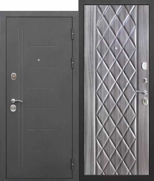 Надежная дверь 10 см Троя Муар Палисандр темный