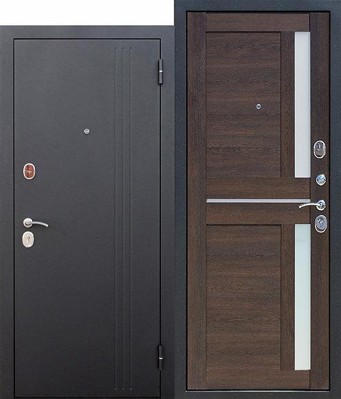 Надежная дверь 7,5 см НЬЮ-ЙОРК Царга Каштан мускат