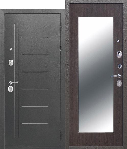 Железная дверь 10 см Троя Серебро МАКСИ зеркало Венге