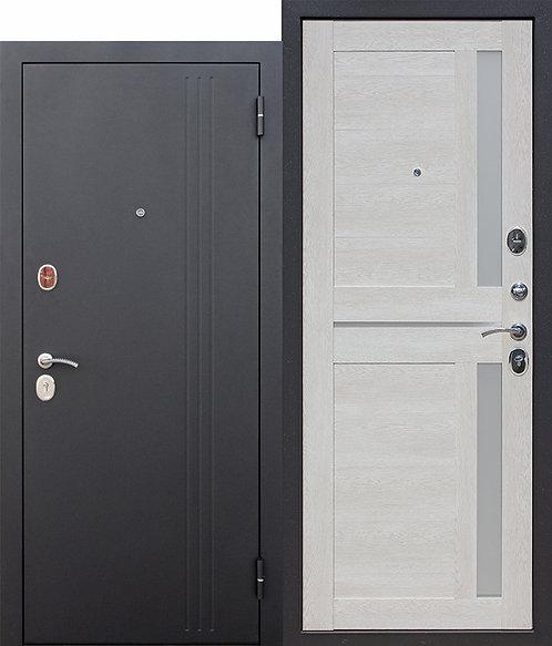 Надежная дверь 7,5 см НЬЮ-ЙОРК Царга Каштан перламутр