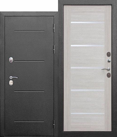 Входная морозостойкая дверь c ТЕРМОРАЗРЫВОМ 11 см Isoterma СЕРЕБРО Лиственница б