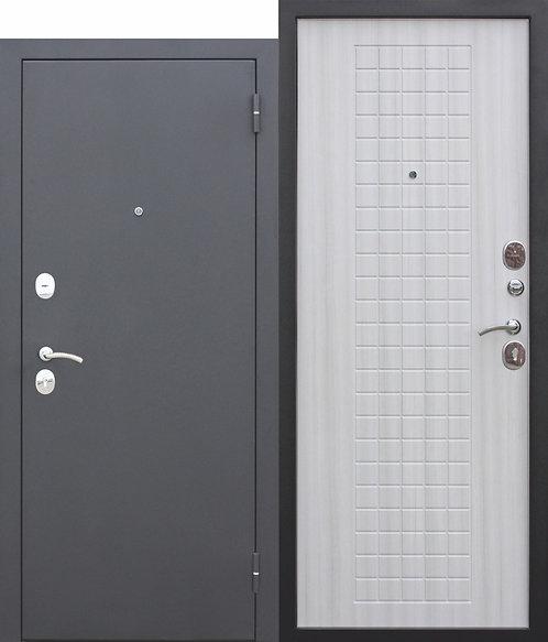 Недорогая дверь Гарда МУАР 8 мм Белый ясень