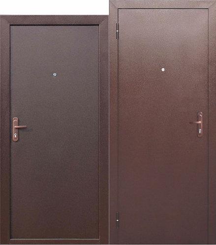 """Дверь дешевая """"СТРОЙГОСТ 5 РФ металл/металл"""" внутреннее открывание"""