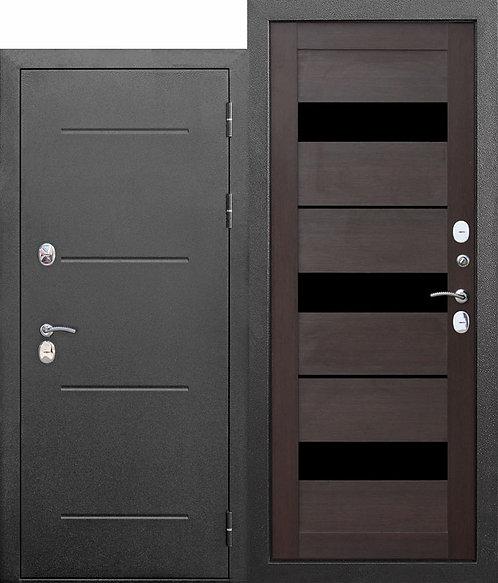 Входная морозостойкая дверь c ТЕРМОРАЗРЫВОМ 11 см Isoterma СЕРЕБРО Темный кипари