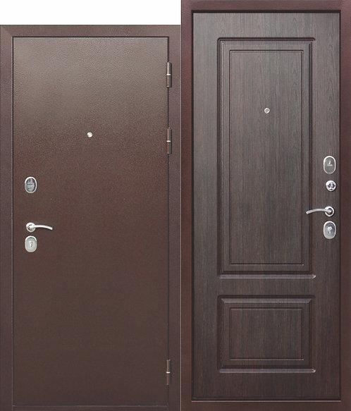 Надежная дверь 10 см ТОЛСТЯК РФ Медный антик ВЕНГЕ