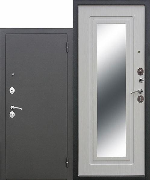 Железная дверь Царское зеркало Муар Белый ясень