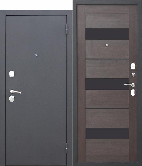 Недорогая дверь Гарда МУАР ЦАРГА Темный кипарис