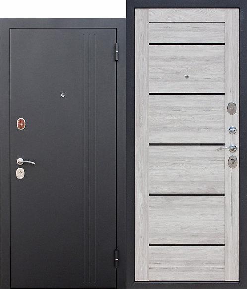 Надежная дверь 7,5 см НЬЮ-ЙОРК Царга Дуб санремо светлый
