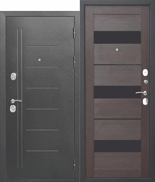 Надежная дверь 10 см Троя Серебро Темный Кипарис