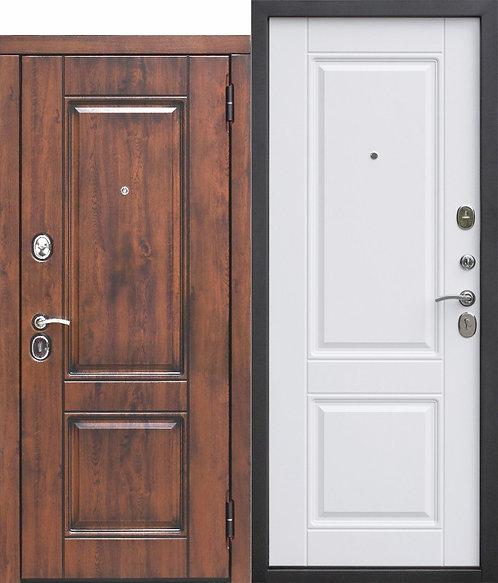 Стальная дверь 9,5 см ВЕНА Vinorit Патина МДФ/МДФ Белый матовый