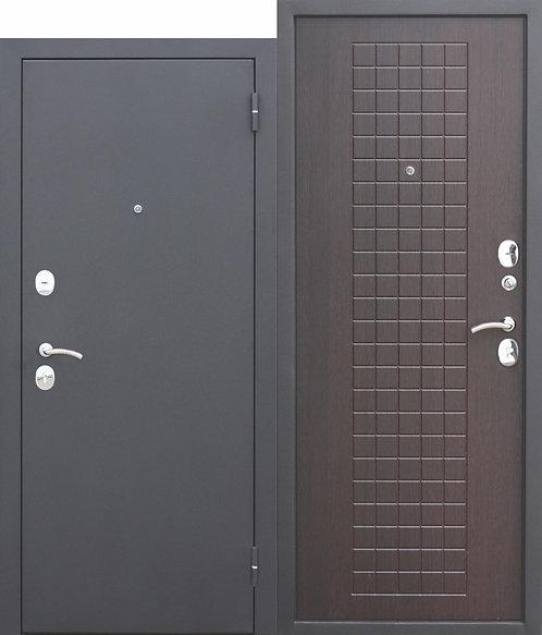 Недорогая дверь Гарда МУАР 8 мм Венге