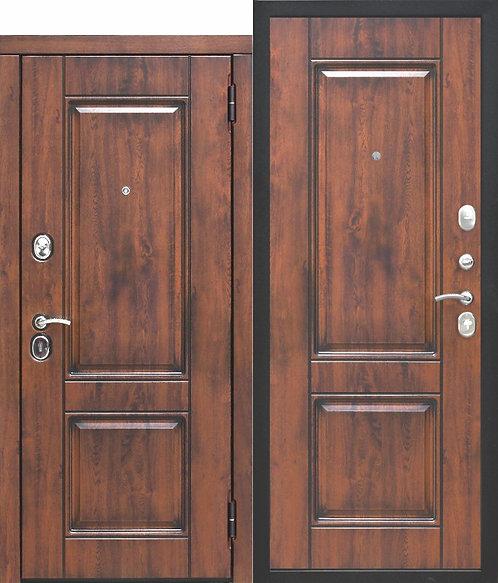 Стальная дверь 9,5 см ВЕНА Vinorit Патина МДФ/МДФ Грецкий орех