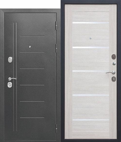 Железная дверь 10 см Троя Серебро Лиственница беж