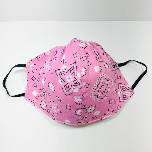 Pink Bandana Pattern Protective Mask