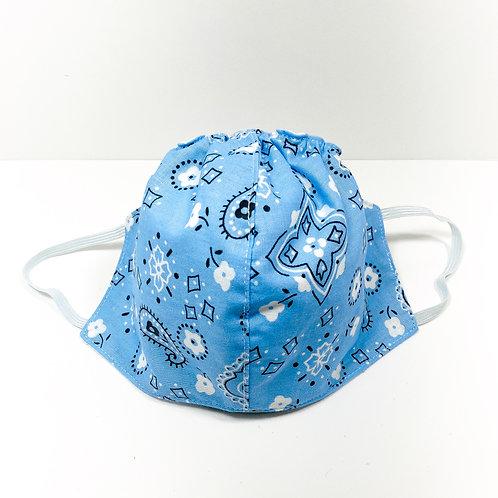 Sky Blue Bandana Pattern Protective Mask