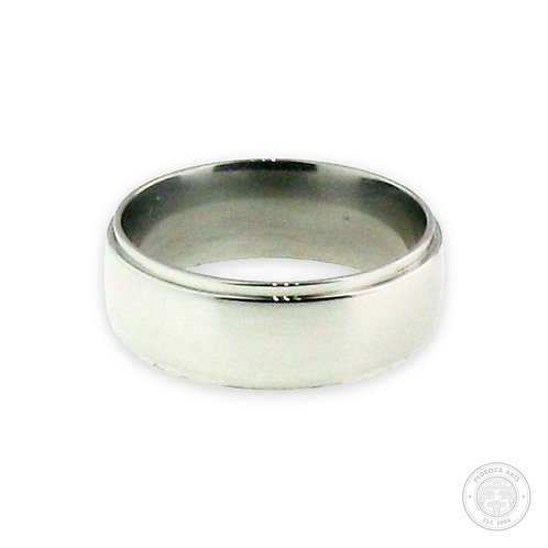 Silver Stainless Steel Ring (8mm)