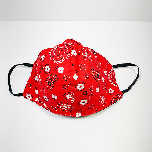 Red Bandana Pattern Protective Mask