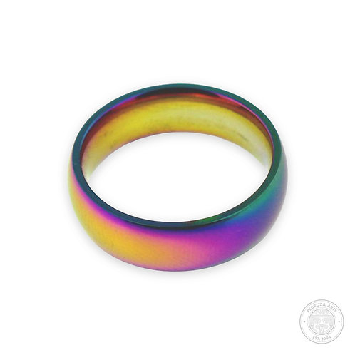 Rainbow Stainless Steel Ring (6mm)