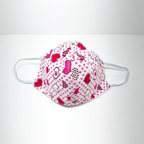 Pink Hearts Protective Mask