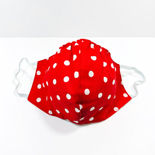 Red Polka Dots Protective Mask
