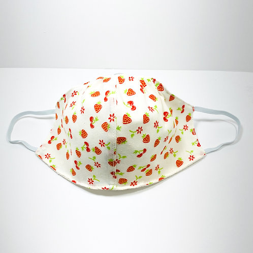 Strawberries and Flowers Protective Mask