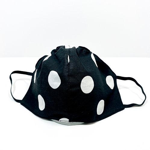 Black Polka Dot Protective Mask