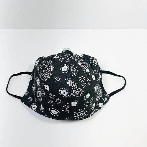 Black Bandana Pattern Protective Mask