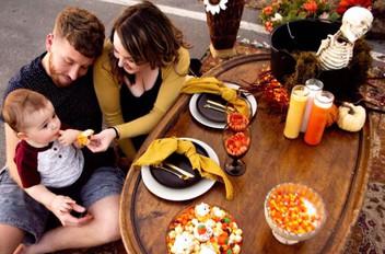 Halloween Picnic Family Photoshoot