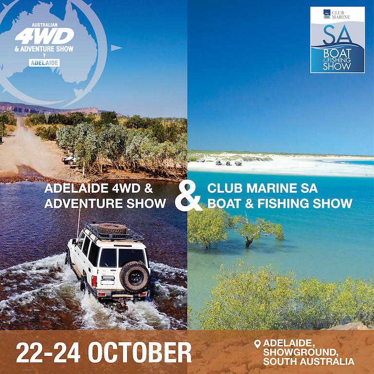 Adelaide 4WD & Adventure Show + Club Marine SA Boat & Fishing Show