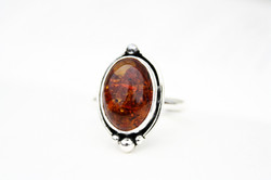 Autumn Leaves - Amber Ring