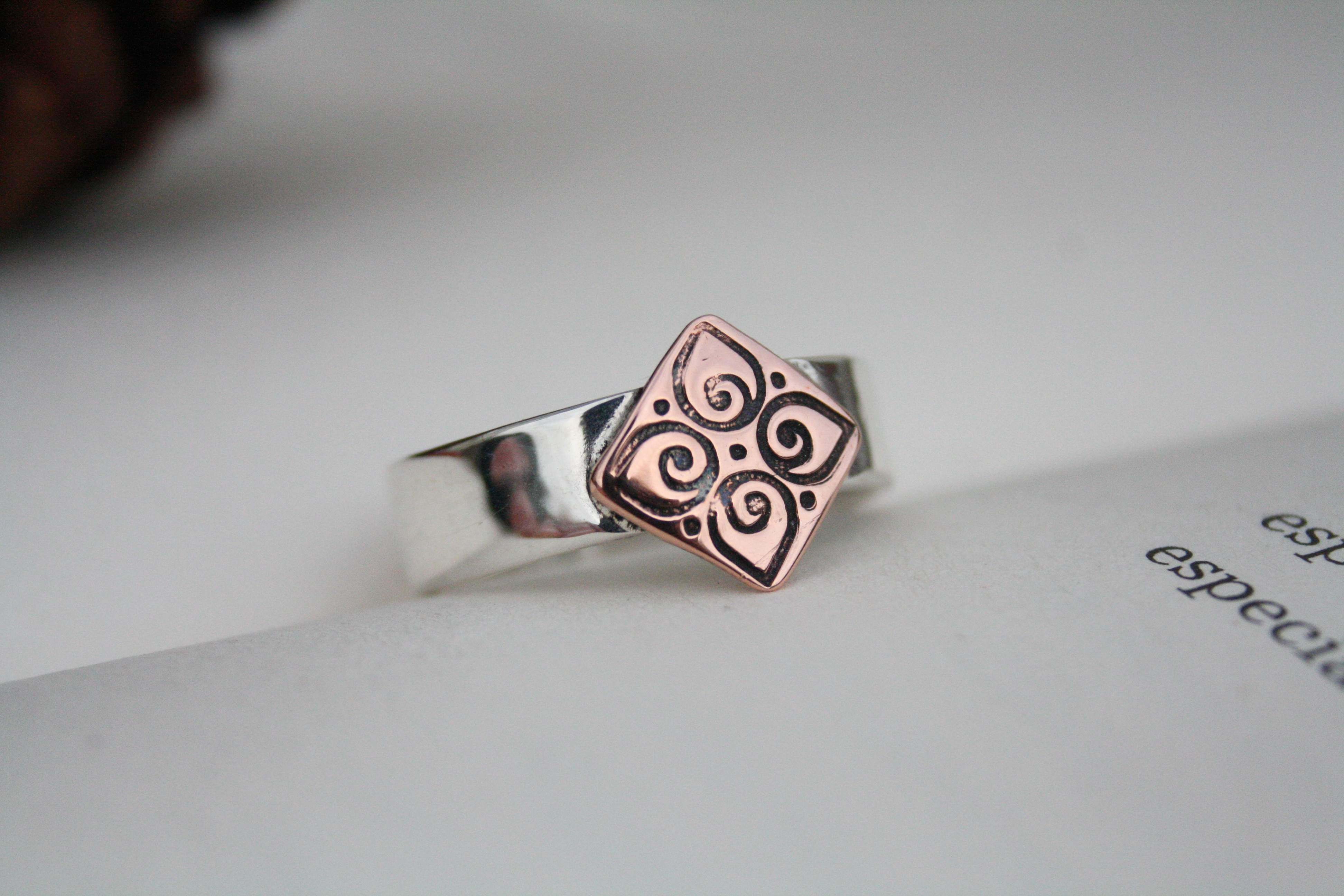 Inner Truth - Sterling Silver and Copper Ring
