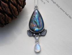 As Above So Below - Labradorite and Moonstone Necklace