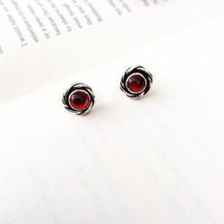 Garnet Rose Earrings