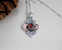 Red Moon Rising - Garnet Necklace