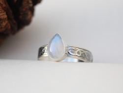 Moonstone Serpent Ring