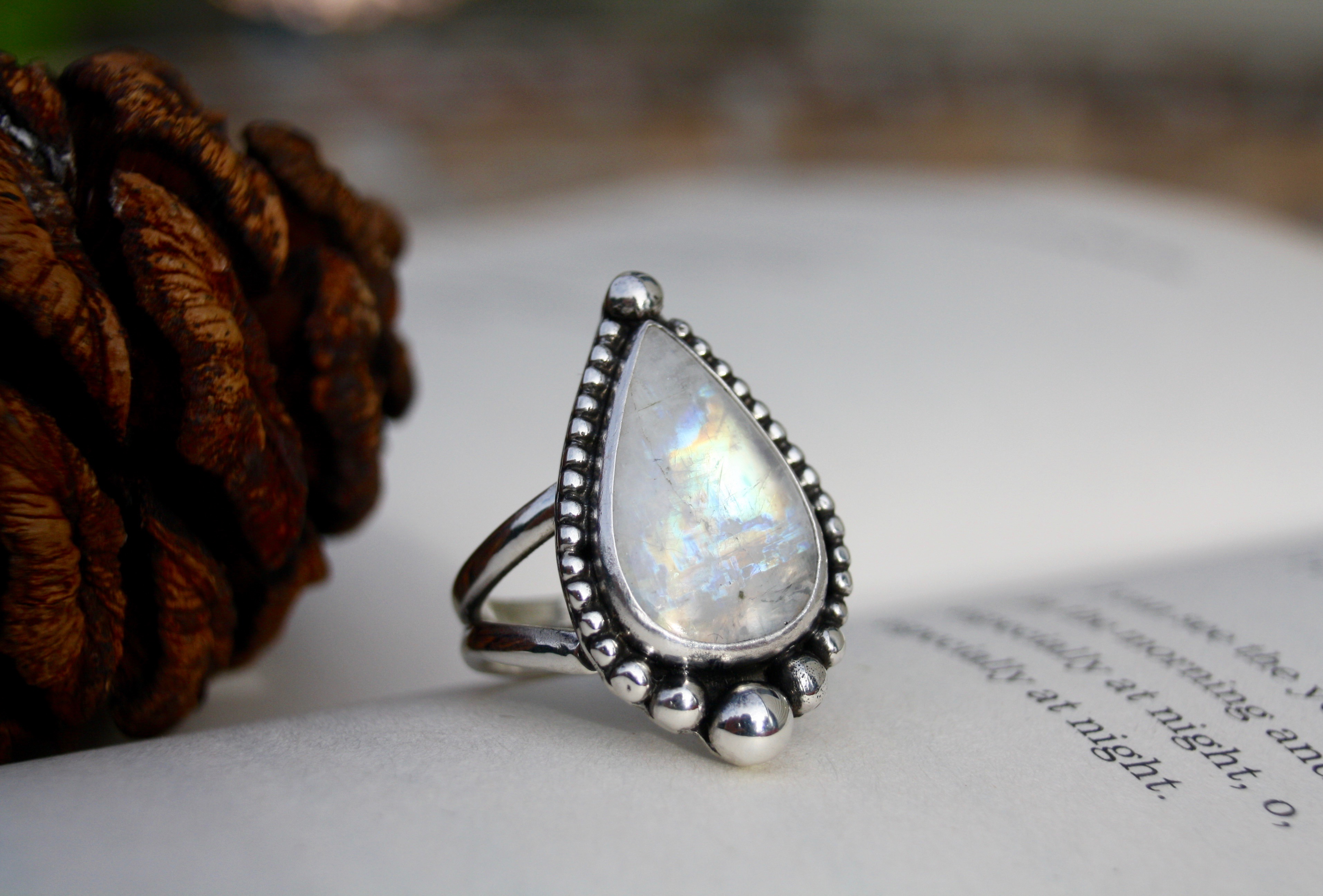 The Moon - Moonstone Ring
