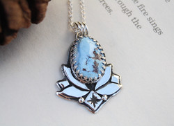 Lotus Turquoise Necklace