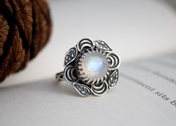 Nature Reclaims - Moonstone Ring