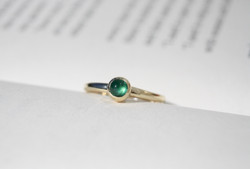 Emerald 9ct Gold Ring